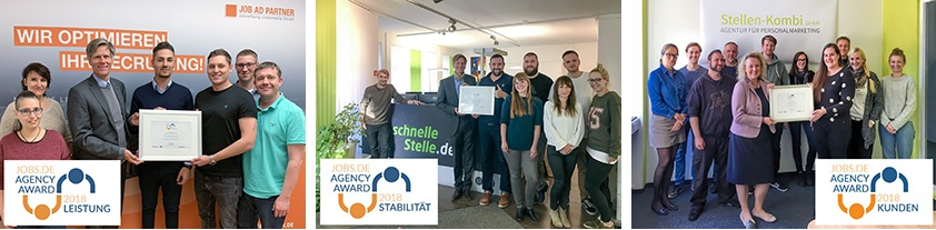 Jobs.de Top Agency Award 2018