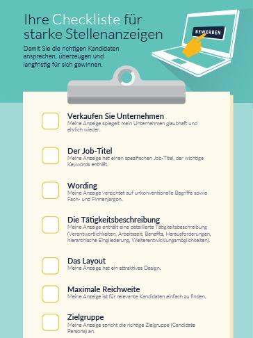 Ihre Checkliste für starke Stellenanzeigen