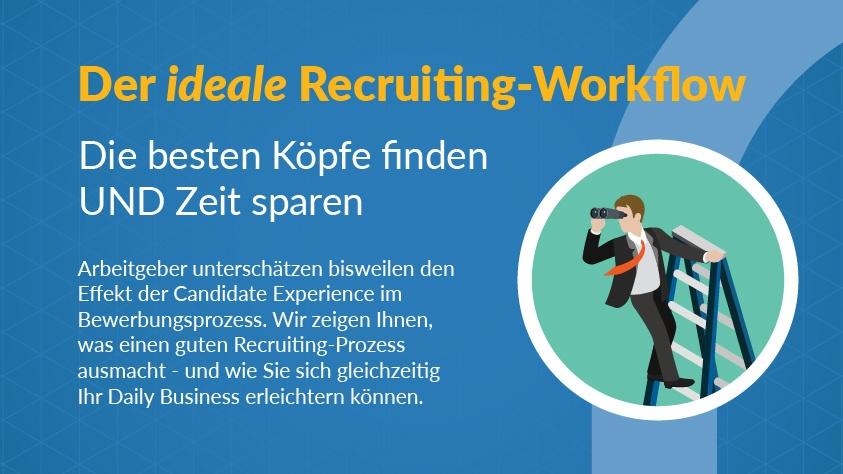 Infografik – Der ideale Recruiting-Workflow: Die besten Köpfe finden UND Zeit sparen