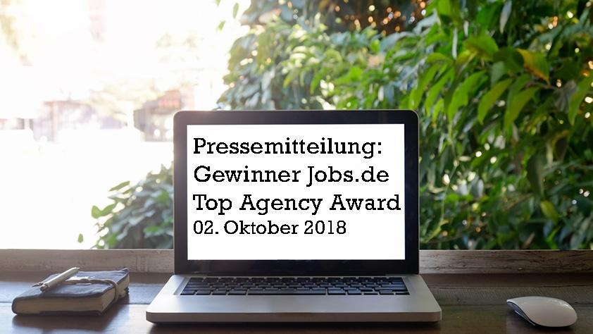 Jobs.de Top Agency Award 2018: Die Gewinner stehen fest