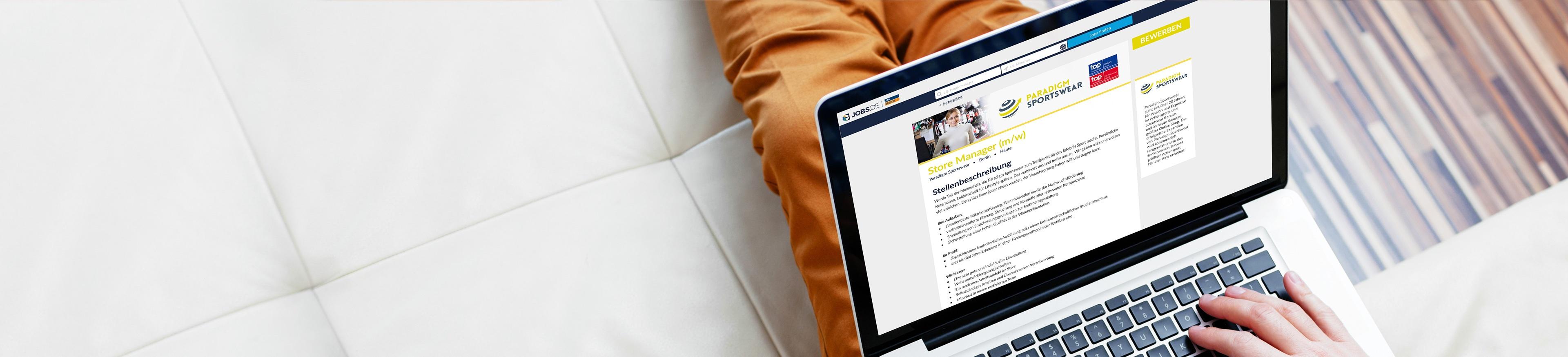 Stellenanzeigenprodukte auf www.jobs.de